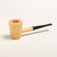 Missouri Meerschaum Corn Cob Mark Twain STRAIGHT (mit Filter)