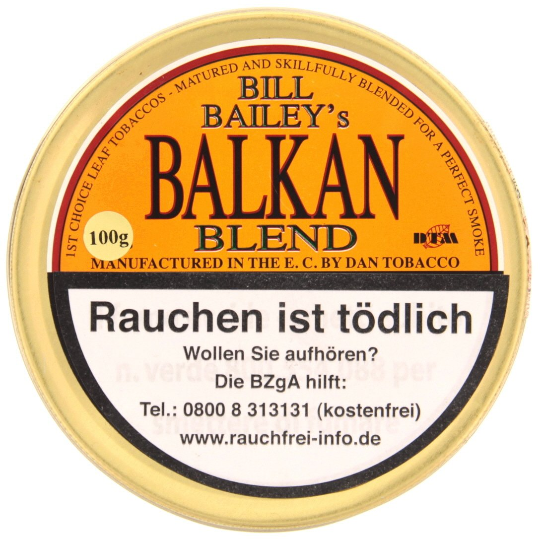 Dan Tobacco Bill Bailey's Balkan Blend 100g Dose (8453-100)
