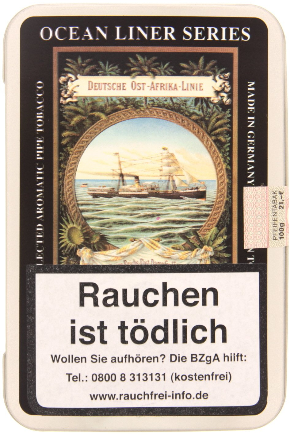 Dan Tobacco Ocean Liner Series Black & Bright 100g Dose (8071-100)