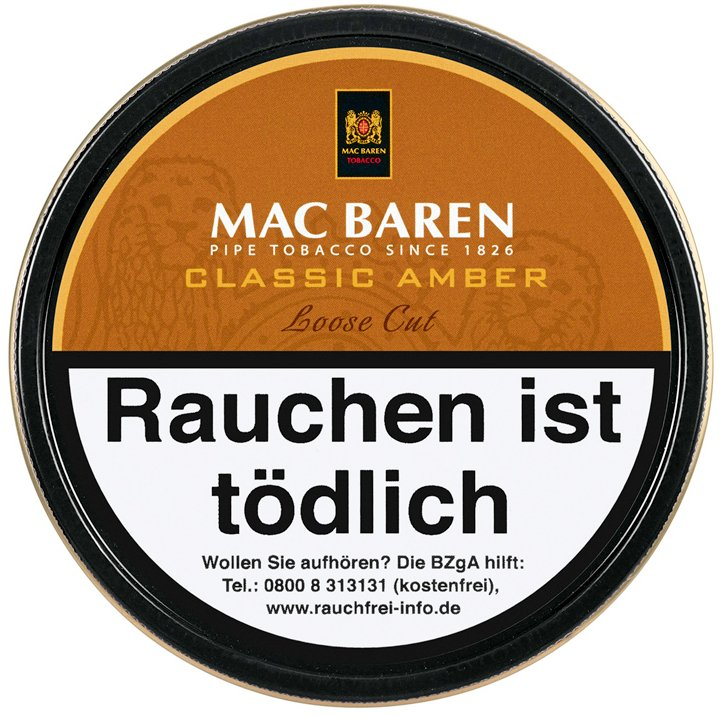 Mac Baren Classic Amber (ehemals Vanilla Toffee Cream) Loose Cut 100g Dose