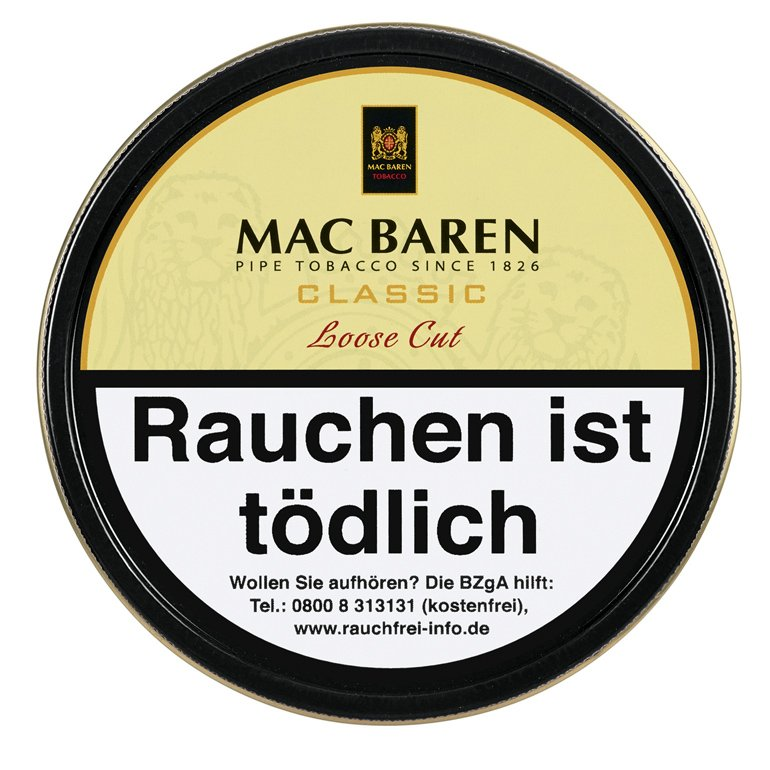 Mac Baren Classic Loose Cut (ehemals Vanilla Cream) Cut 100g Dose