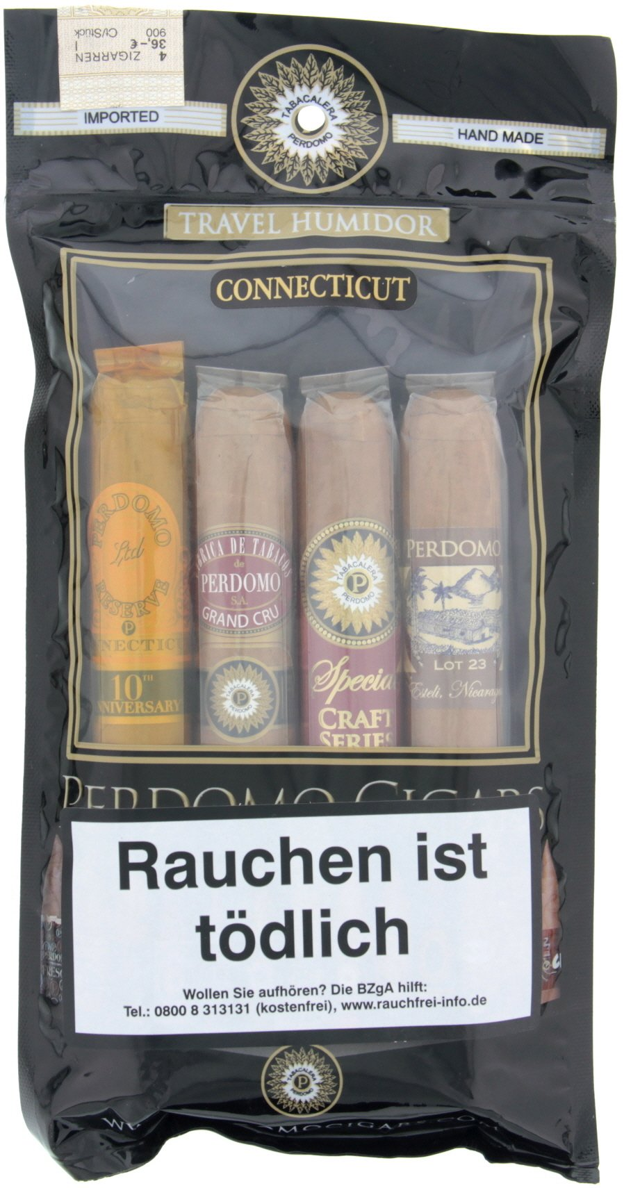 Perdomo Toro Connecticut (4er Pack) Vorteilspack