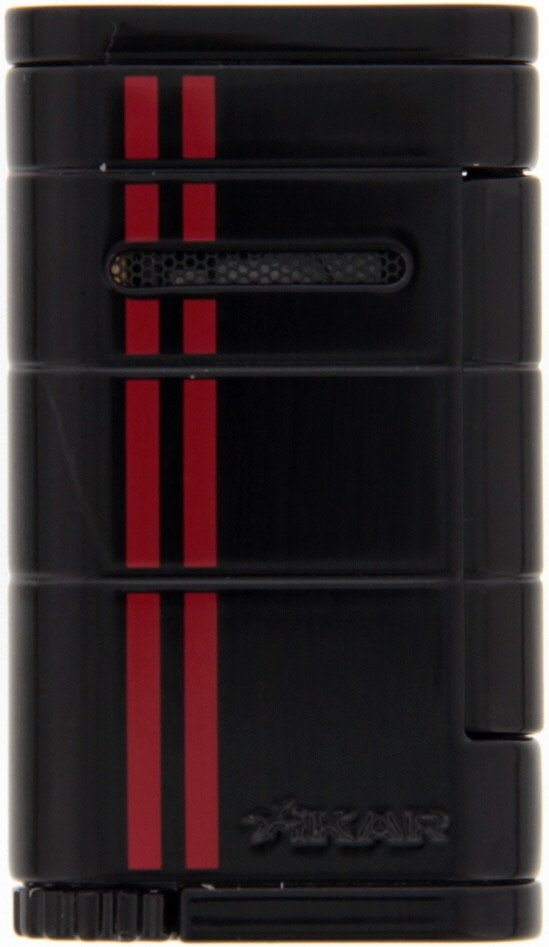 Xikar Allume (Single Jet) black red stripe (532BKRD)