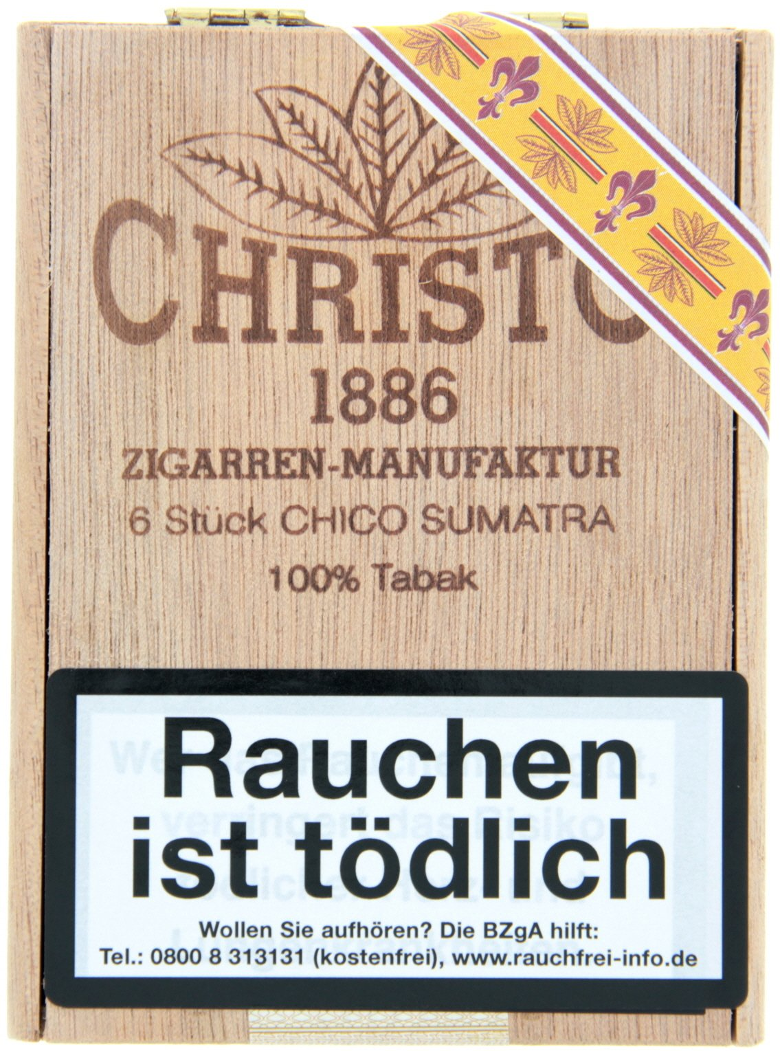 Christo 1886 Zigarrenmanufaktur Cigarillos Chico Sumatra (6er)