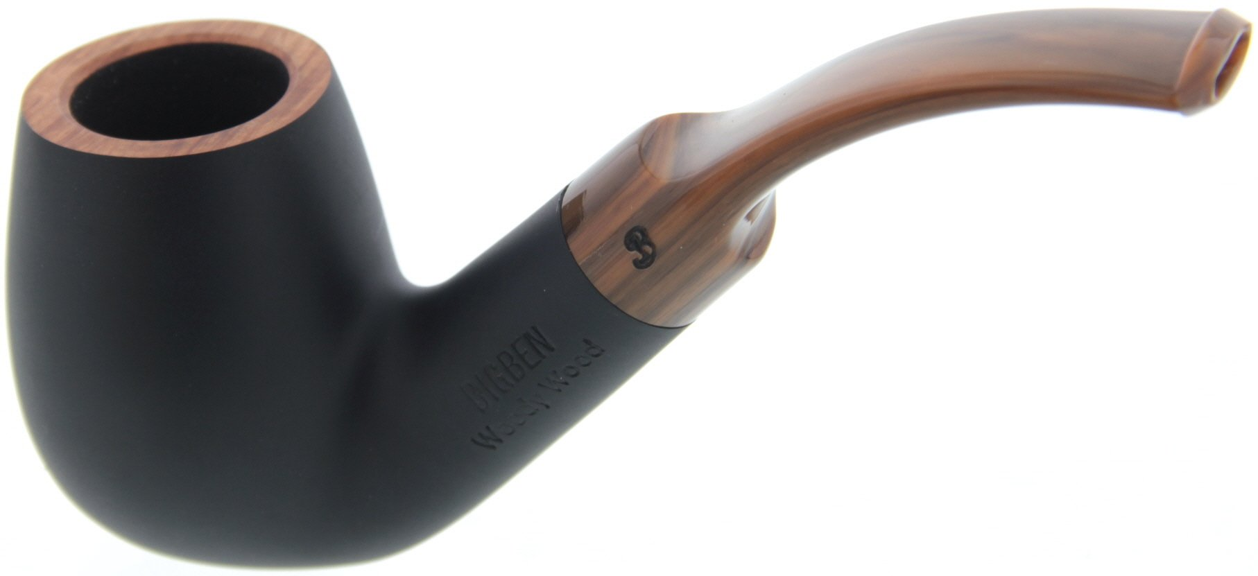 Big Ben Woody Wood Black matte Modell 018