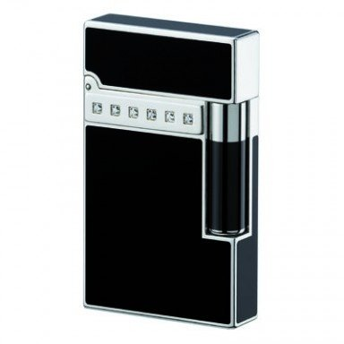 S.T. Dupont Collection Premium 16478 Palladium Chinalack schwarz, 14 Diamanten