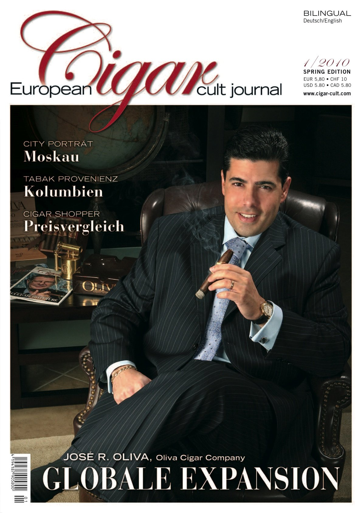 European Cigar Journal Ausgabe  01/2010 (José Oliva)