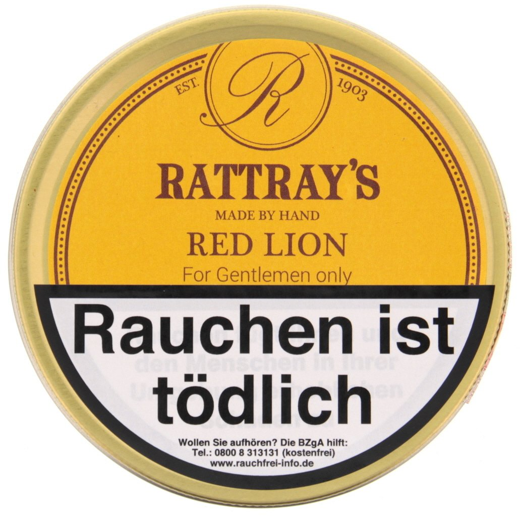 Rattray's British Line Pfeifentabak Red Lion 50g Dose
