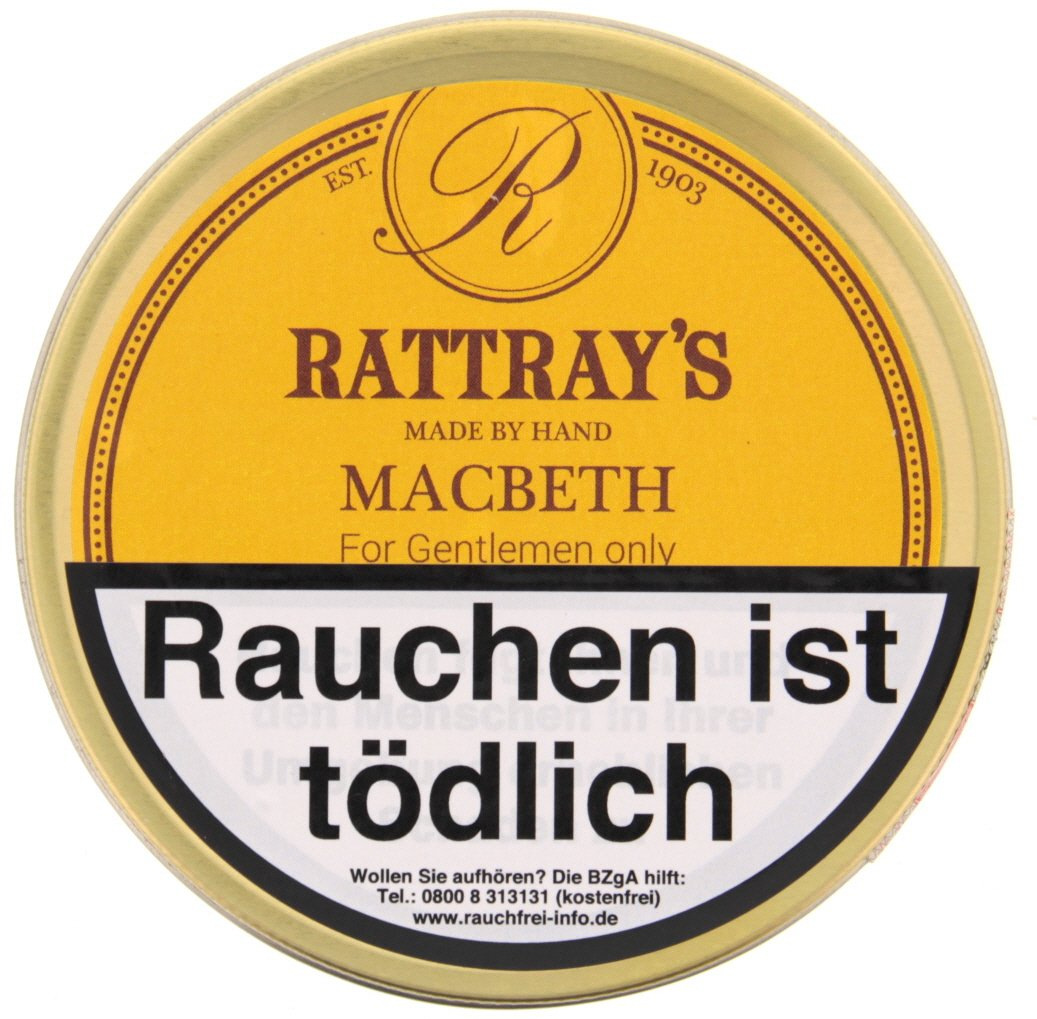 Rattray's British Line Pfeifentabak Macbeth 50g Dose