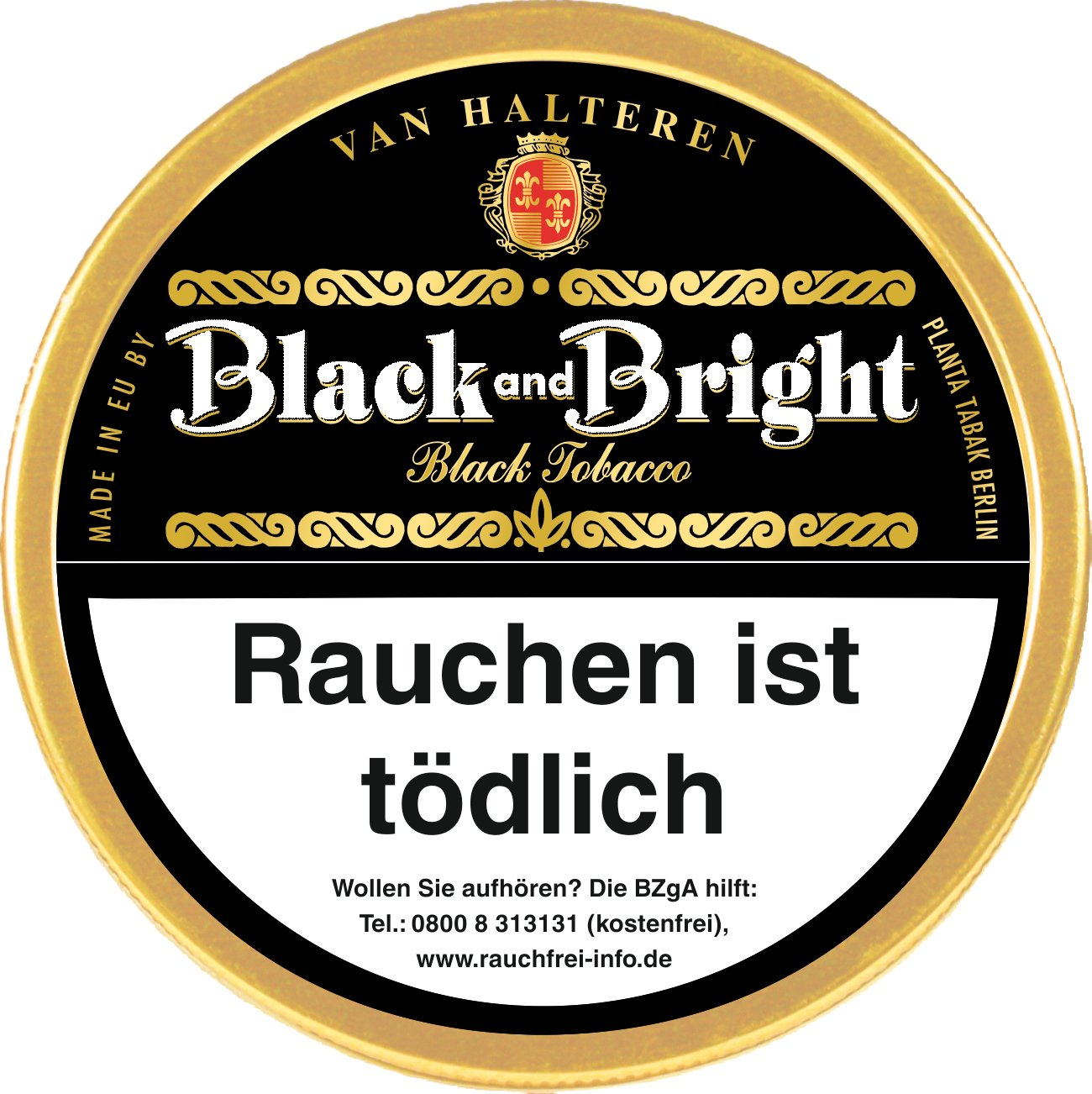 Van Halteren Black and Bright 100g Dose