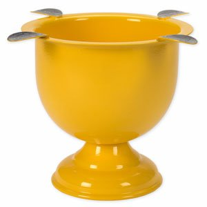 Tuttofumo Stinky Ashtray Color Stinky Tall Safety Yellow - mit 4 Ablagen (CA-ST-