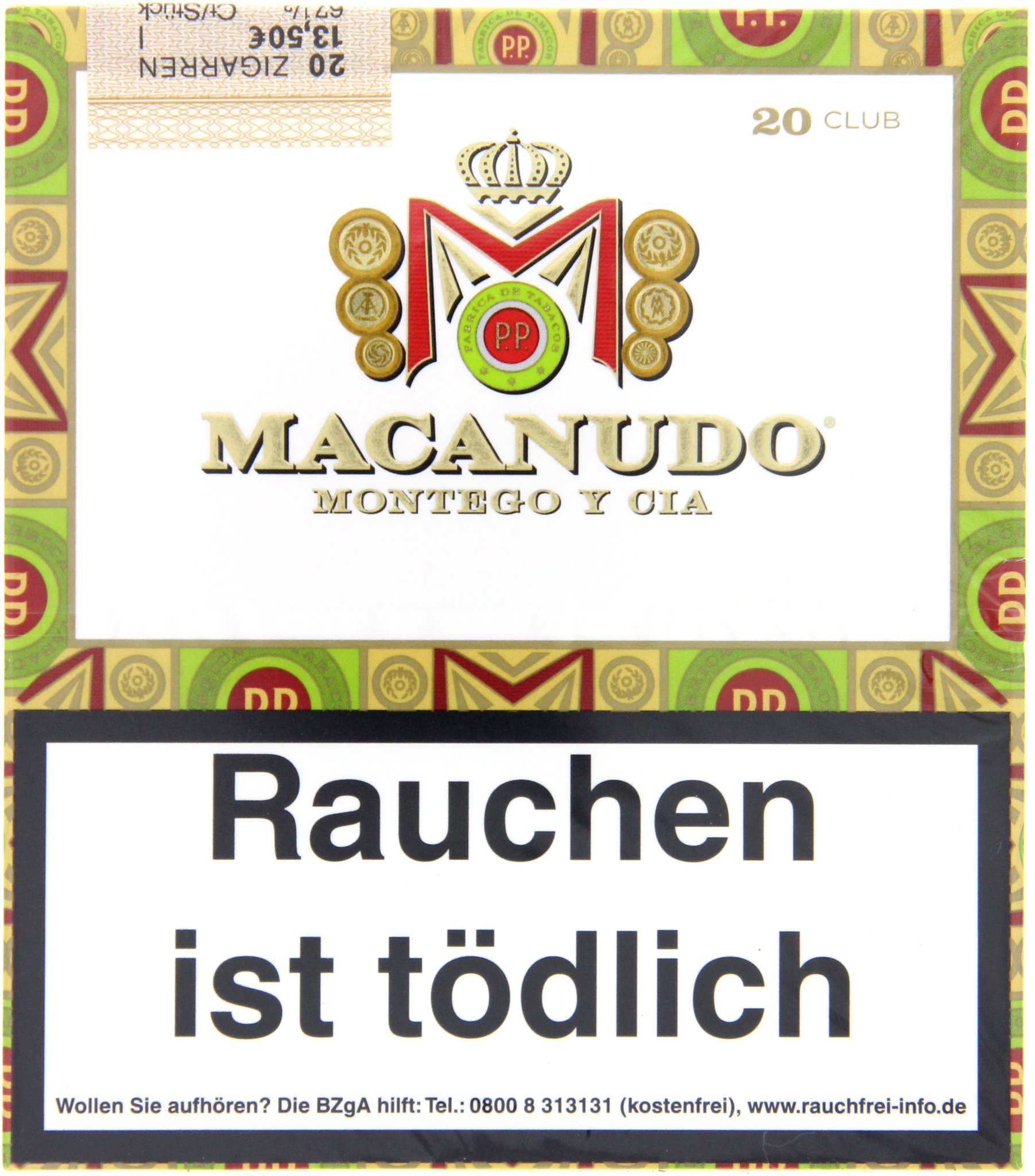 Macanudo CAFE Club Cigarillos 20er Packung