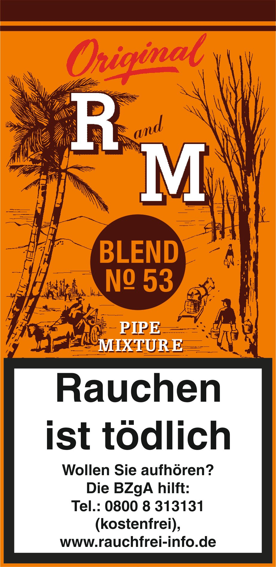 R and M Pfeifentabak 50g Pouch (ehemals Rum and Maple)