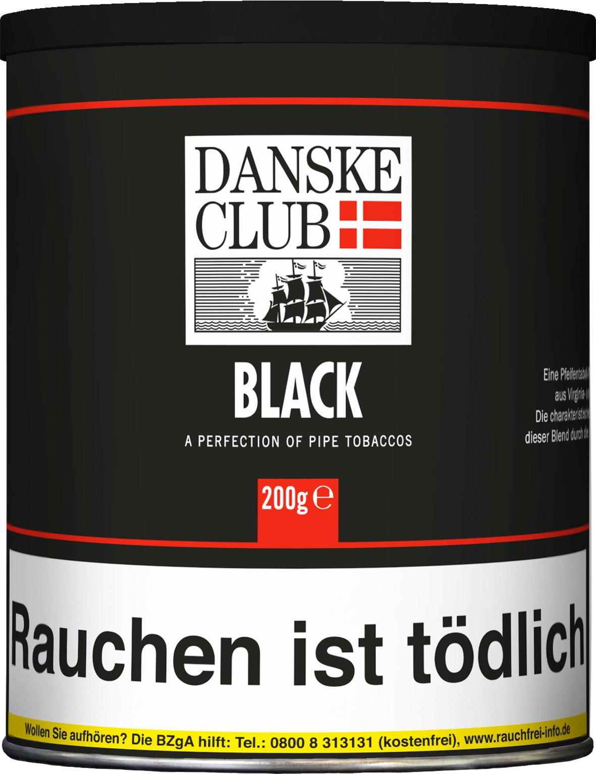 Danske Club Pfeifentabak Black (ehemals Black Luxury) 200g Dose