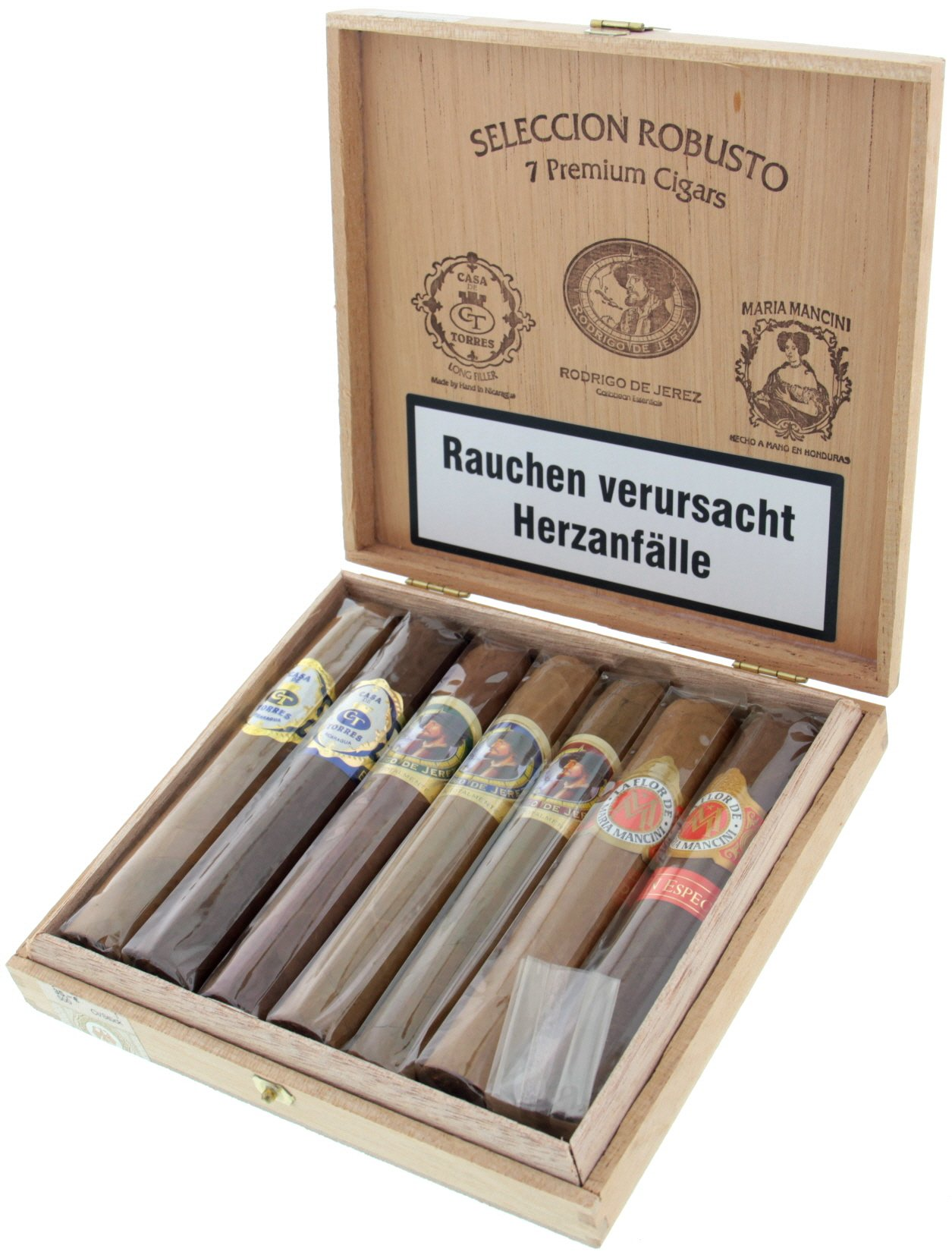 August Schuster Sampler Seleccion Robusto 7 Premium Cigars offen
