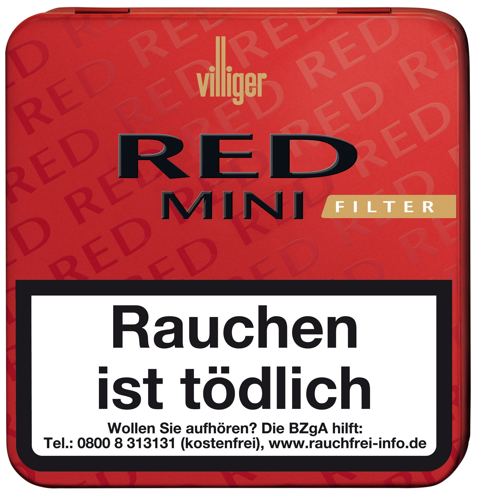 Villiger Zigarillos Red Mini Filter Blechdose (ehemals Vanilla)