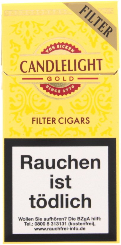Candlelight Aromatic Filter Cigarillo Gold
