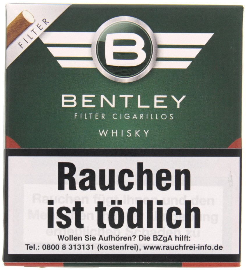 bentley zigarillos filter cigarillos whisky (20er packung