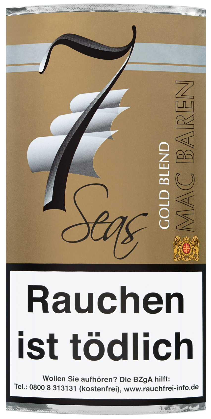 Mac Baren 7 Seas Gold Blend 40g Pouch (5161)