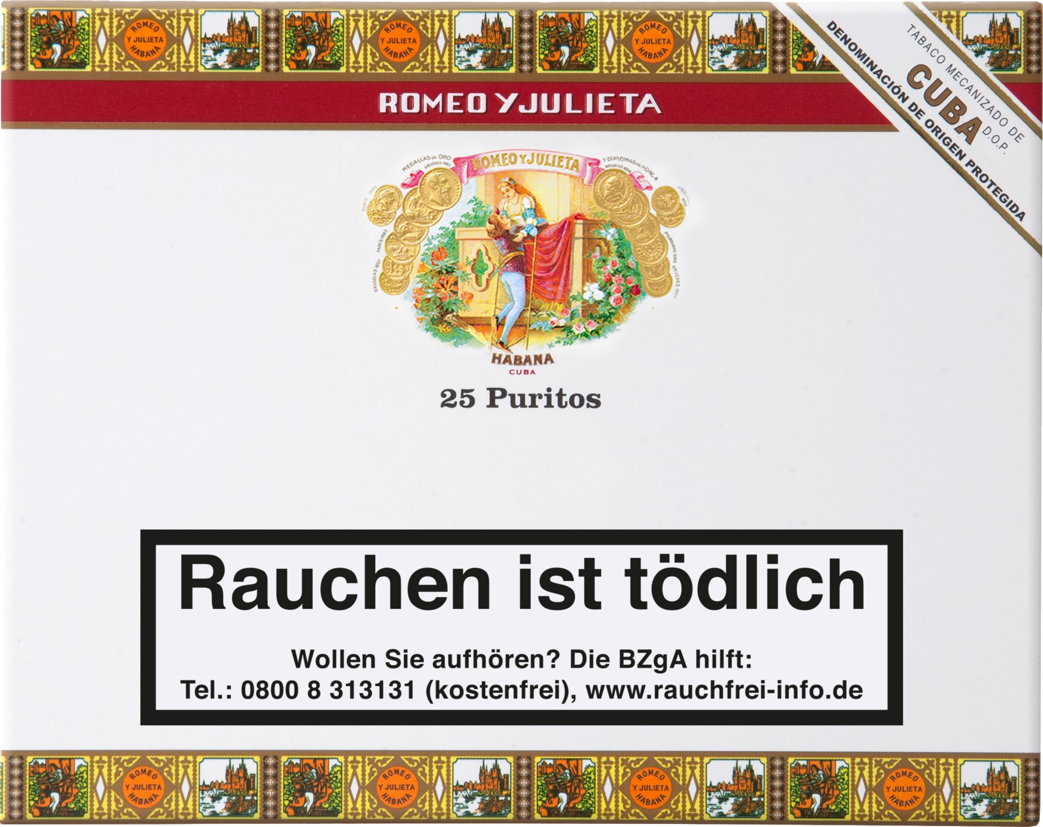 Romeo y Julieta Cigarillos Puritos 25er