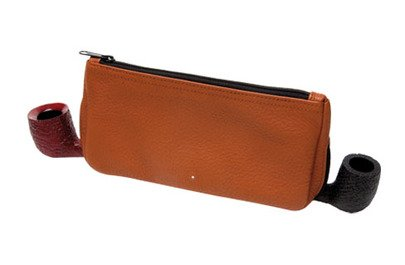 Alfred Dunhill The White Spot Terracotta Pfeifen Etui 2 Pipe Combination Pouch (