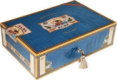 Elie Bleu Collection Alba Humidor blau