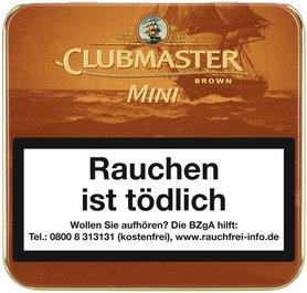 Clubmaster Superior Flavour Mini OHNE Filter Brown No. 233 (früher CHOCOLATE) 20er