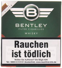 Bentley Cigarillos Filter Cigarillos Whisky (20er Packung)