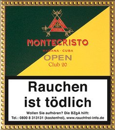 Montecristo Cigarillos Open Club 20 Front